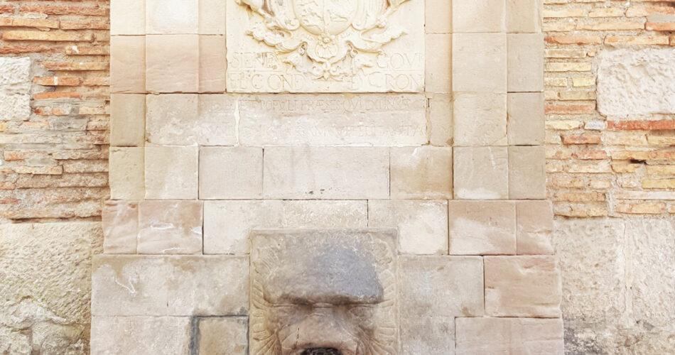 La Font de Sant Llorenç o de les Piques a la ciutat de Lleida
