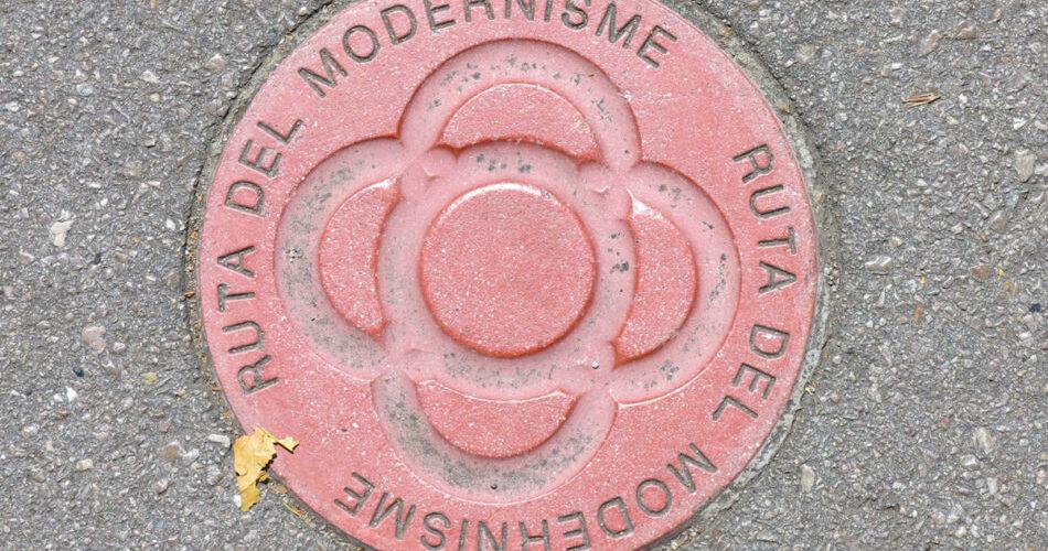 Panto Rosa Ruta Modernisme Barcelona